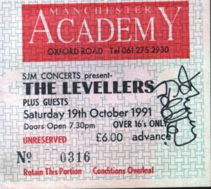 19 October 1991 Levellers - Academy, Manchester, England, UK