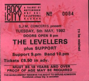 05 May 1992: Levellers - Rock City, Nottingham, England, UK
