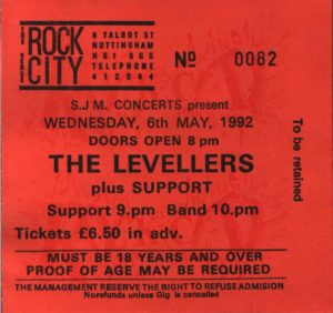06 May 1992: Levellers - Rock City, Nottingham, England, UK