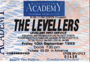 10 September 1993: Levellers - Academy, Manchester, England, UK