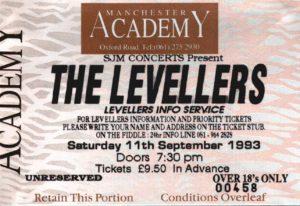 11 September 1993: Levellers - Academy, Manchester, England, UK
