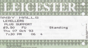 07 October 1993: The Levellers - Granby Hall, Leicester, England, UK