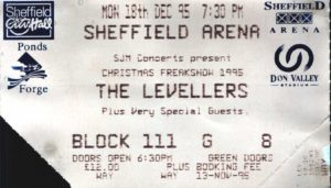 18 December 1995: Levellers - Sheffield Arena, Sheffield, England, UK