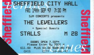 19 September 1997: Levellers - Sheffield City Hall, Sheffield, England, UK