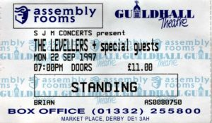 22 September 1997: Levellers - Assembly Rooms, Derby, England, UK