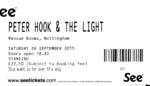 20150926 Peter Hook and The Light