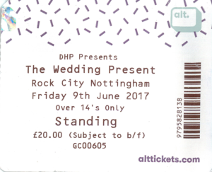 20170609 The Wedding Present - Rock City, Nottingham, UK
