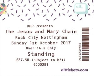 20171001 The Jesus and Mary Chain - Rock City, Nottingham, England, UK
