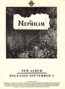 05 September 1988 Fields of The Nephilim - The Nephilim Album Release Advert