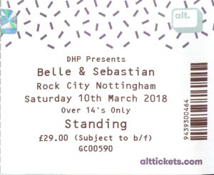 20180310 Belle & Sebastian - Rock City, Nottingham, England, UK