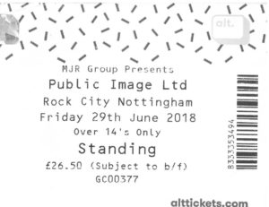 29 June 2018: Public Image Ltd. - Rock City, Nottingham, England, UK