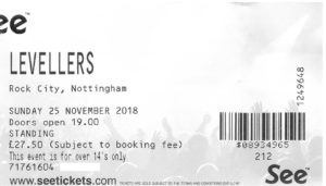 25 November 2018: Levellers - 30th Anniversary: One Way of Life Tour - Rock City, Nottingham, England, UK